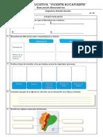 Evaluacion Diagnóstica Estudios Sociales
