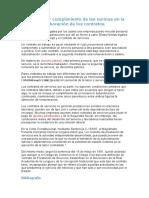 Aplicación y cumplimiento de las normas en la elaboración de los contratos