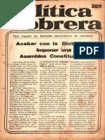 Política Obrera n° 285 (08 junio 1978)