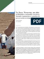 La joya, veracruz, un sitio prehispánico construido con tierra