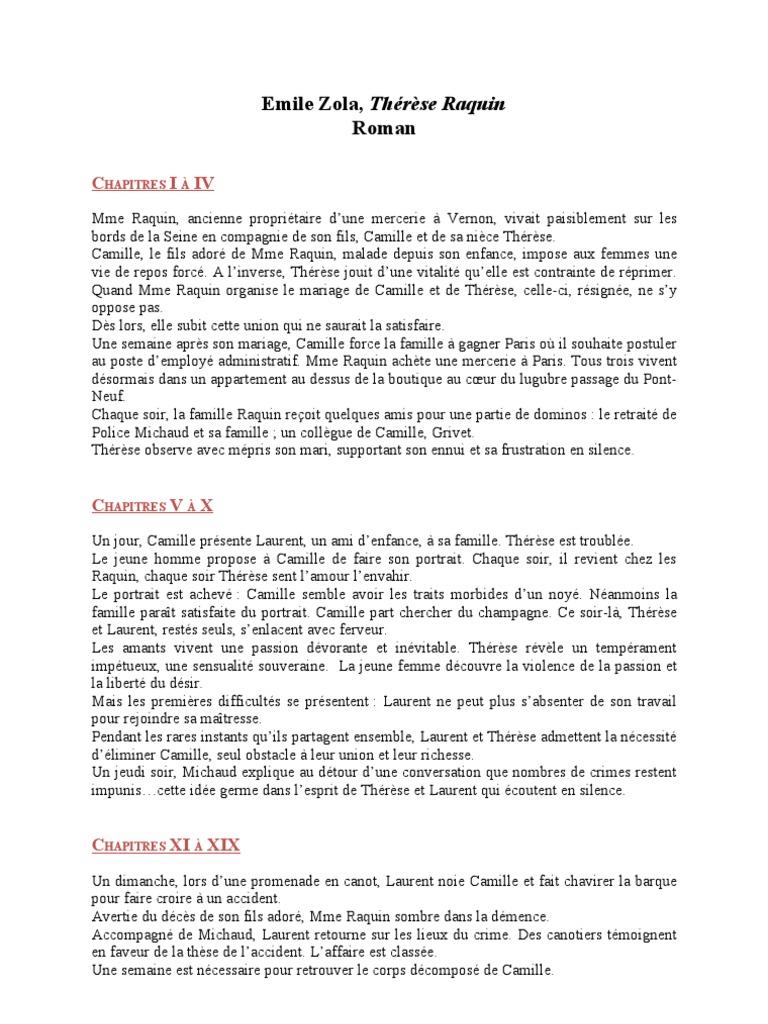 Thrse raquin resume argument essay samples