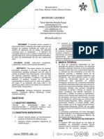 PRE-INFORME DE BIOINDICADORES
