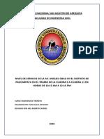 DETERMINACION DEL NIVEL DE SERVICIO de UNA AVENIDA