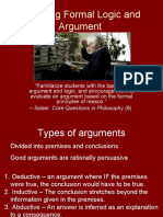 Teaching Formal Logic and Argument