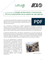 El rol de las Tecnologías de Información y Comunicación (TIC) en el mejoramiento de las cadenas de valor Agrícola