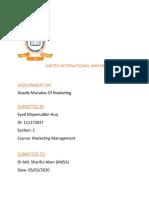 Assignment -marketing mgt
