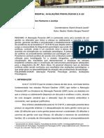 ALIENAÇÃO PARENTAL AVALIAÇÕES PSICOLÓGICAS E A LEI