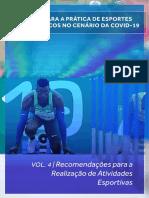 Volume  4 – Recomendações para atividades esportivas