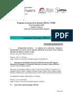 Programa participación APPEAL en CNIE-COMIE 2019