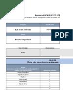 Formato Presupuesto Foto
