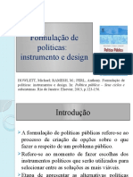 Seminario Formulação de políticas