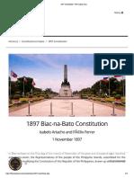 Biak na Bato Constitution