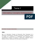 Tema 1 - Informática, conceptos fundamentales