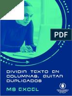 21. Dividir texto en columnas, quitar duplicados