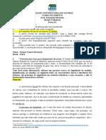 Avaliação P1 - Tributário - UEMS
