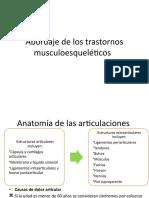 Abordaje de los trastornos musculoesqueléticos