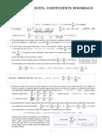 Cours - Sommes, produits, coefficients binomiaux