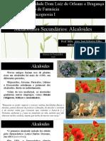 Aula 16- Metabóloticos Secundários Alcaloides