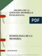 SEMIOLOGIA DE LA ATENCION MEMORIA E INTELIGENCIA 2019