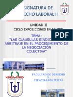 3 Las Cláusulas Sindicales -El Arbitraje en la Negociación Colectiva
