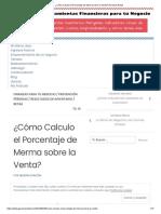 ¿Cómo Calculo el Porcentaje de Merma sobre la Venta_ Gerencia Retail