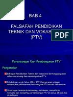 BAB 4 Falsafah Pendidikan Teknik dan Vokasional (PTV)