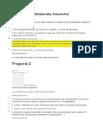 Examen Final - Metodologias Agiles