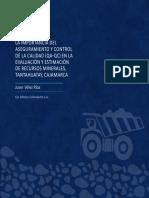 LA IMPORTANCIA DEL ASEGURAMIENTO Y CONTROL DE LA CALIDAD (QA-QC) EN LA EVALUACIÓN Y ESTIMACIÓN DE RECURSOS MINERALES, TANTAHUATAY, CAJAMARCA