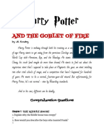 MODULE Harry Potter and the Goblet of Fire