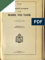 Preliminary Handbook of the Mark VIII Tank. 1925