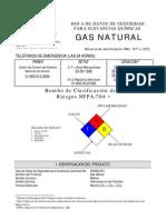 datos del gas natural