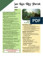 Bulletin for Jan 30, 2011