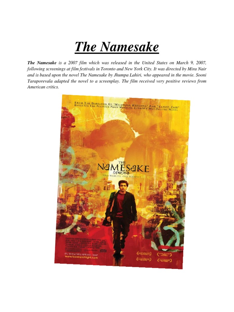 the namesake belonging enrich Start studying guided reading for the namesake learn vocabulary, terms to belong and not belong here did the namesake allow you to think of america in a new way.