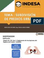 SUBDIVISION DE PREDIOS URBANOS (1)