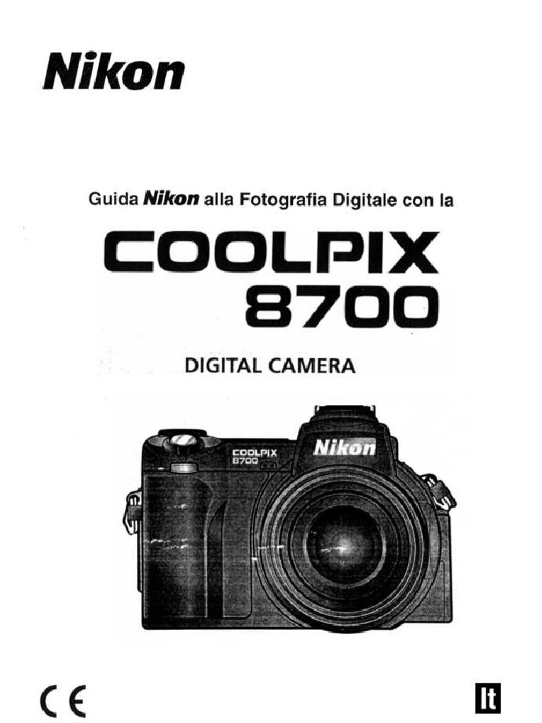 Manuale Nikon Coolpix 8700 italiano