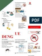 FOLLETO DE DENGUE EPIDEMIOLOGIA
