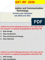 ICT  PYQ JUNE 2012 -  JULY 2018