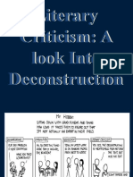 Literary Criticism DECONSTRUCTION