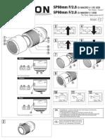 EN-User Guide-TAMRON AF SP 90mm F 2.8 Di Macro 1-1 VC USD