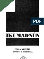 İMAM GAZALİ-IkiMadnun