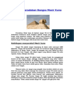 Sejarah Peradaban Bangsa Mesir Kuno