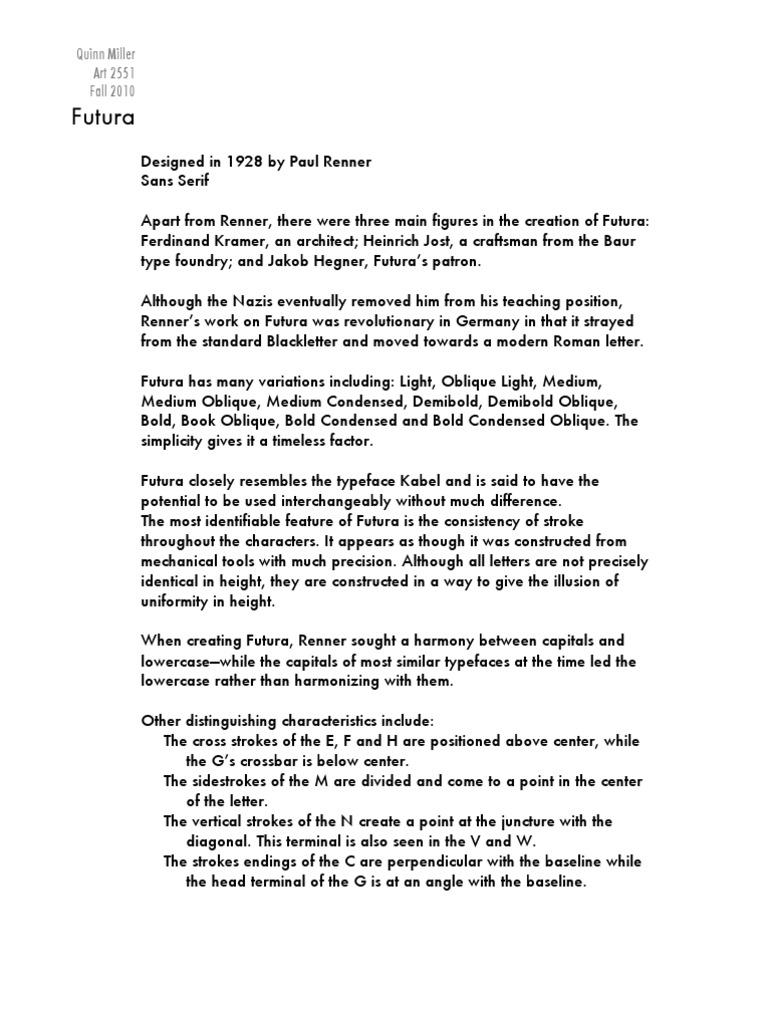 futura pdf | Typefaces | Typography