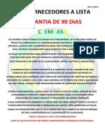 TOP FORNECEDORES A LISTA MÊS 11-2019