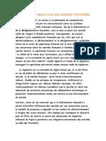 ÉTAT ET REGULATION DES MARCHÉS FINANCIERS