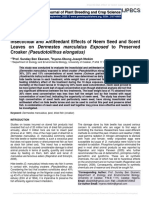 Insecticidal and Antifeedant Effects of Neem Seed and Scent Leaves on Dermestes marculatus Exposed to Preserved Croaker (Pseudotolithus elongatus)