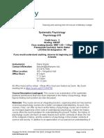 systematic syllabus