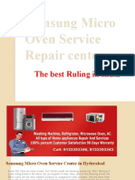 Samsung Micro Oven Repair Service in Secunderabad