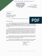 Strzok Attorney Letter in Flynn Case