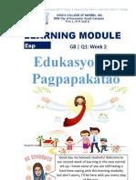 LEARNING MODULE EsP 8 2nd Week
