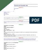 Exercices sur le pseudo-code